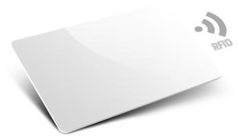 500 tessere bianche con antenna RFID 125Khz read only