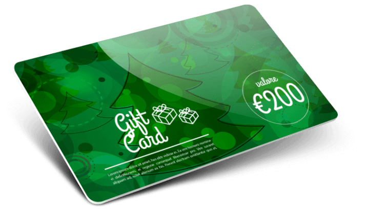 Stampa Gift Card in plastica