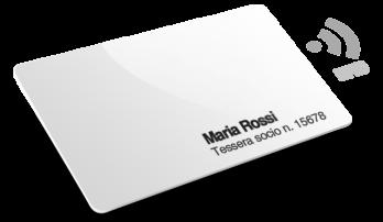 Tessere in plastica con RFID, Numeri e Nomi e Cognomi