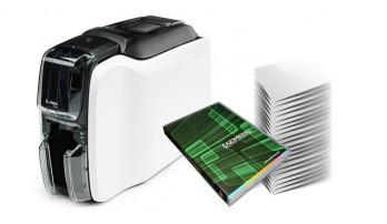 Stampante Zebra Serie ZC100 + Cardpresso + 500 tessere bianche