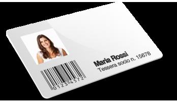 Cards con codice a barre + Numerazione + Nomi e cognomi + Foto