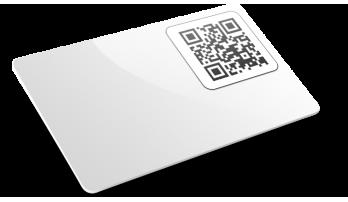 Card plastiche con QR code