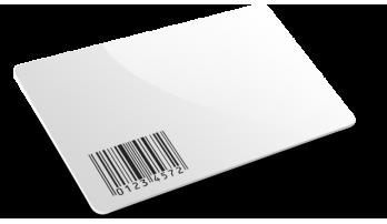 Card plastiche con codice a barre semplice