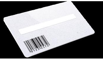 Card plastiche con Codice a Barre, Campo firma e Glitter