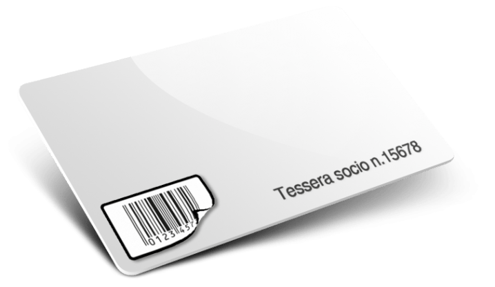 Tessere con Codice a barre + Numerazione + Etichetta stacca attacca