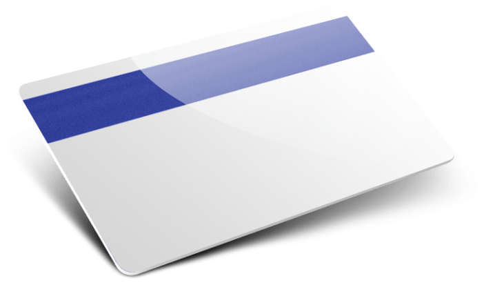 Card plastiche con banda magnetica colorata