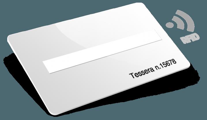 Card in plastica RFID con Numerazione e Campo firma
