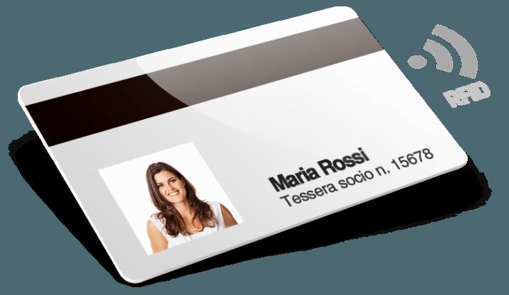Tessere con RFID con Banda Magnetica + Numerazione + Nomi e Cognomi + Foto