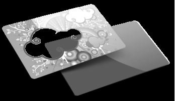 Card PVC trasparente
