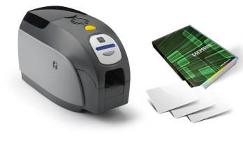 Stampante Zebra Serie ZXP3 + Cardpresso + 100 tessere neutre