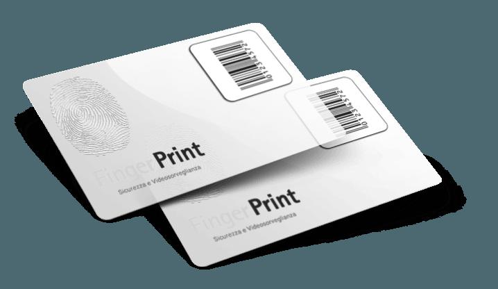 Tessere plastiche trasparenti con numerazione
