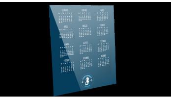 Calendario con sottomano