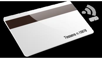 Card plastiche con RFID con Banda Magnetica e Numerazione