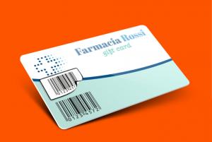 card con etichetta removibile