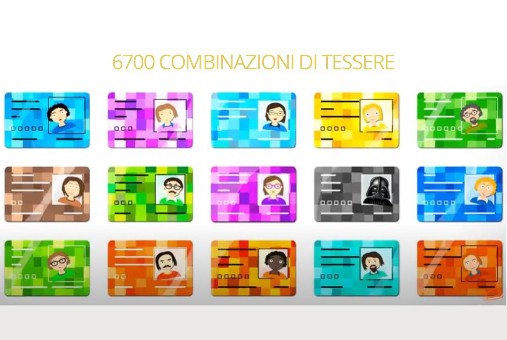 6700 combinazioni di card