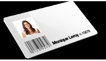 Cartes avec code barres + Numérotation + Nom Et Nom De Famille + Photos