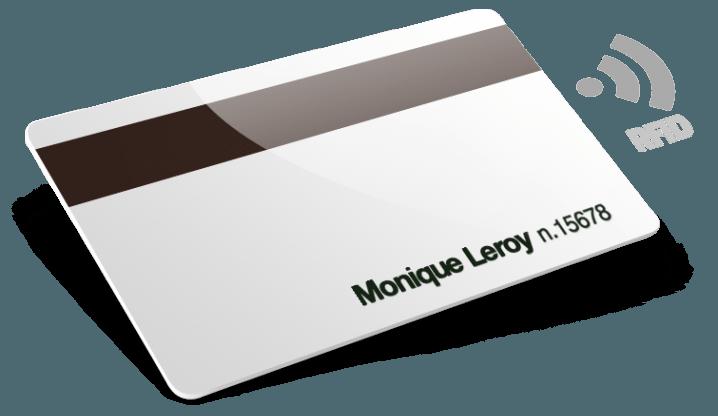 RFID avec bande magnétique et numérotation