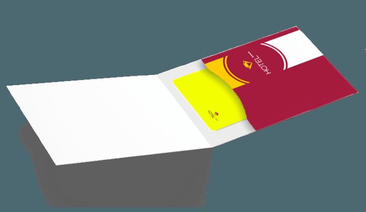 Porte-cartes Manhattan + cartes PVC pour hôtels