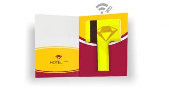 """Porte-cartes """"Local"""" + Cartes en PVC pour hôtels"""