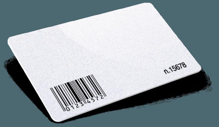 Cartes PVC avec Code-barres + Numérotation + Blanc d'écriture + Glitter