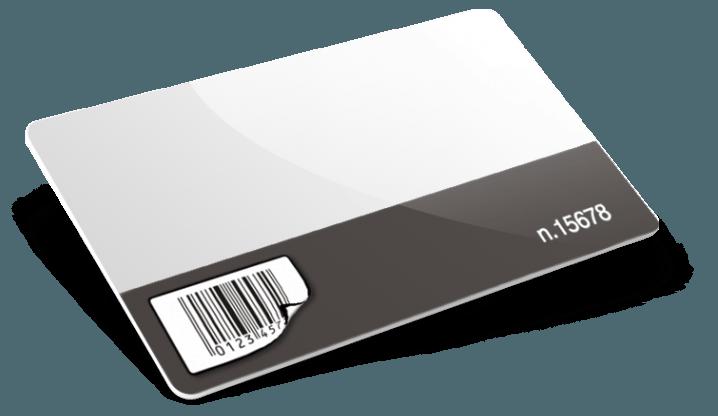 Cartes PVC avec code-barres + numérotation + étiquette amovible