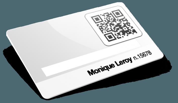 Cartes avec QR Code et numérotation et blanc d'écriture
