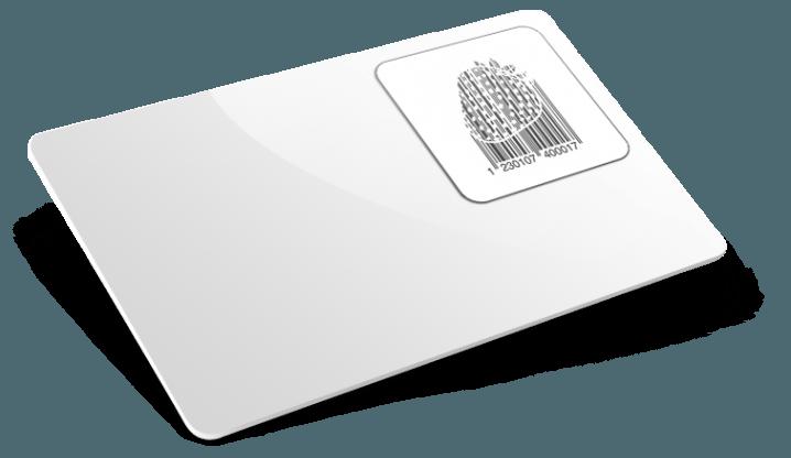 Cartes PVC avec Code-barres personnalisés