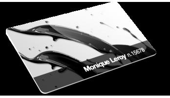 Cartes PVC avec Numérotation + Numérotation + Vernis en relief (Vernis sélectif 3D)