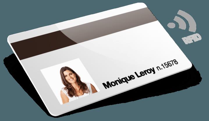 RFID avec bande magnétique + numérotation + noms et prénoms + photo