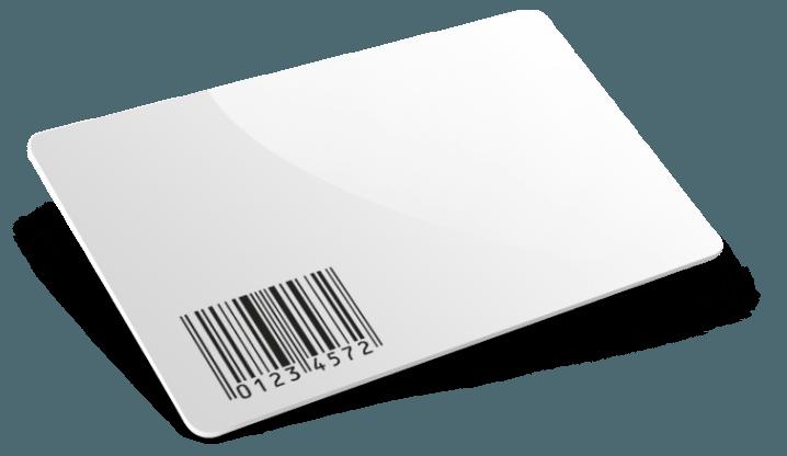 Impression de cartes en PVC avec code barres