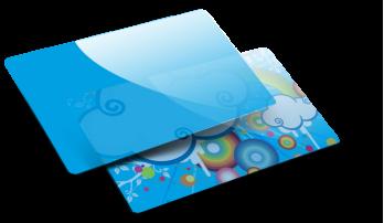 Cartes transparentes colorées