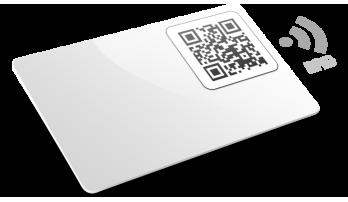 Cartes plastiques avec RFID avec QR Code