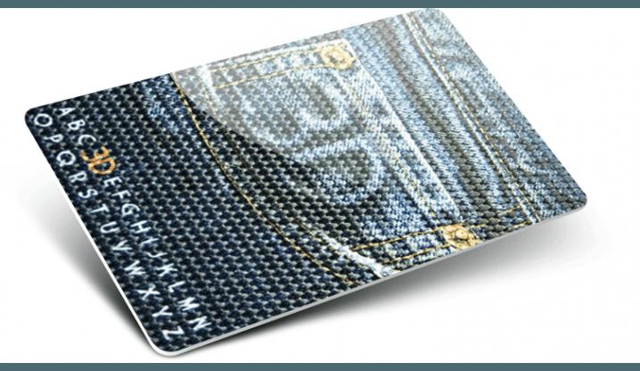 Cartes plastiques avec Numérotation + Effet 3D