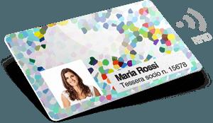 Badge aziendali RFID in plastica