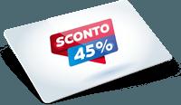 Tessere con % di sconto stampata